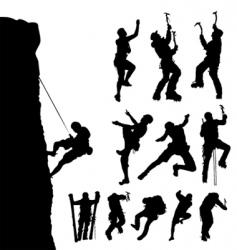 mountain climber vector image vector image