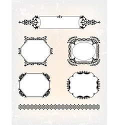 set pattern vector image vector image