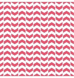 Tile pattern with pink arrows on white background vector image