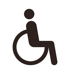 Disabled handicap icon vector image vector image