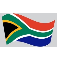Flag of South Africa waving vector image