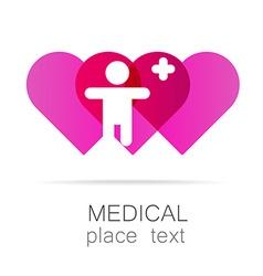 medical cross template logo vector image