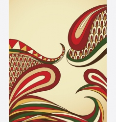 organic swirls vector image vector image