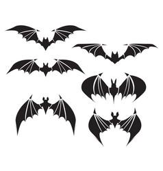 symbol of bat with big wings vector image