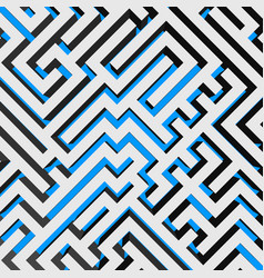 aerial view of 3d maze labyrinth with blue ground vector image