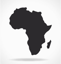 Africa continent shape silhouette simplified vector