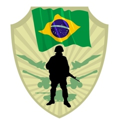 Army of Brazil vector image