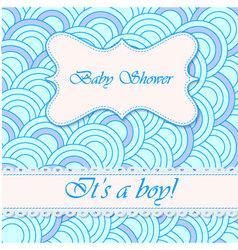 Baby-shower-circle-pattern-boy vector