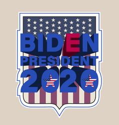 badge with 3d inscription biden president 2020 vector image