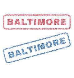 Baltimore textile stamps vector