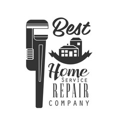 Best home repair and renovation service black and vector