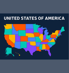 Blank map usa united states america in vector