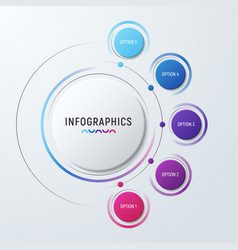 Circle chart infographic template for vector