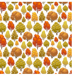 colorful autumn forest seamless pattern design vector image