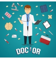 Doctor And Medical Objects Design vector