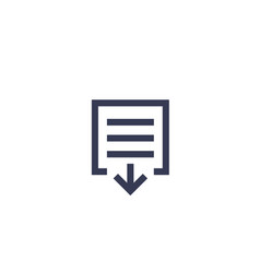 document download icon on white vector image
