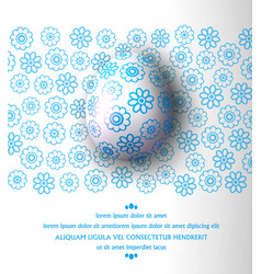 Egg with blue pattern on a vector