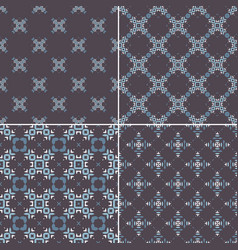 elegant collection four geometric seamless vector image
