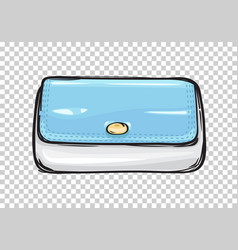 fashion clutch bag or purse flat theme art style vector image