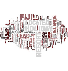 Fiji holiday text background word cloud concept vector