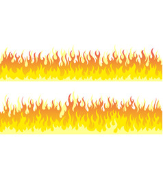 fire flame frame borders vector image