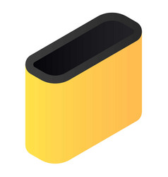 garage garbage box icon isometric style vector image