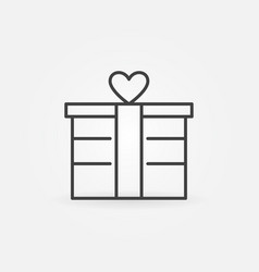 gift box outline icon valentines day vector image