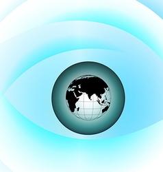 Globe eye vector