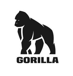 Gorilla monochrome logo vector