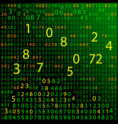 green binary computer code repeating vector image