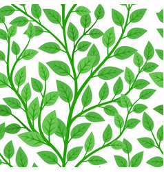 green branches tree seamless pattern vector image