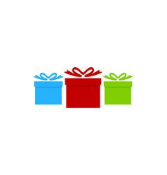 group gift logo icon design vector image