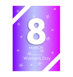 happy womens day on pink background spring design vector image