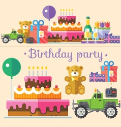 Holiday birthday party vector
