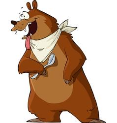 Hungry bear vector