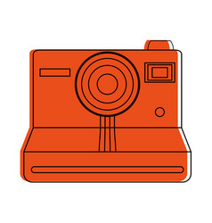 instant film photographic camera icon image vector image