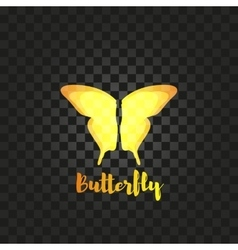 Isolated yellow butterfly logo Insects vector image