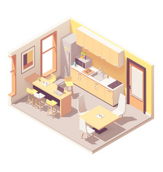 Isometric office break room vector