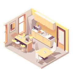 isometric office break room vector image