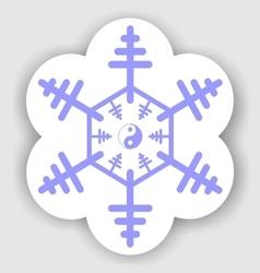 Jin jang snowflake vector