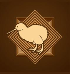 kiwi bird cartoon graphic vector image