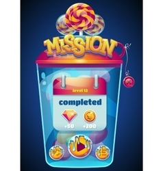 mission completed window vector image