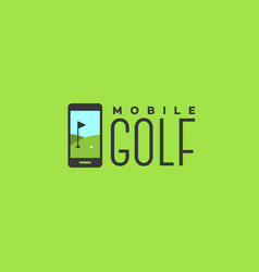 mobile golf logo vector image