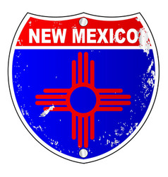 New mexico flag icons as interstate sign vector