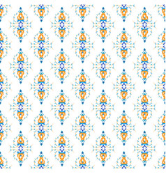 oriental seamless pattern with arabesque and vector image