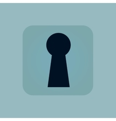 Pale blue keyhole icon vector