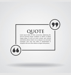 Quote blank template card vector