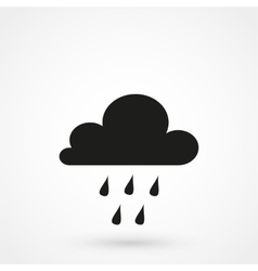 Rain clouds icon vector image
