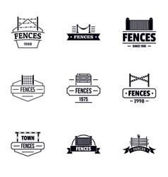 Retrieval logo set simple style vector