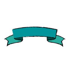 Ribbon banner blank decoration element vector